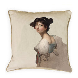 "Collection of 100% linen pillows - 100% linen and Down pillow 22""x22"". A Barclay Butera /Coletti collaboration."