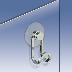 Windisch - Shower Door Hook in Chrome, Gold - Shower hook. This is ONLY able to mount to glass surfaces. It will not hold up on tile, drywall, etc.