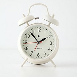 """Anthropologie - Covent Alarm Clock - By Newgate ClocksRequires one AA batteryPaper, metal6.75""""H, 6"""" diameterImported"""