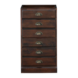 Printer's Single 2-Drawer File Cabinet, Tuscan Chestnut Stain - I love the look of light and ...