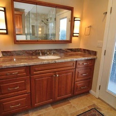Traditional Vanity Tops And Side Splashes by Kitchens Etc. of Ventura County
