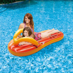 Swim Time - Swim Time Tropical Flip Flop 71 in. Inflatable Pool Float - NT1774 - Shop for Floats from Hayneedle.com! Step into summer fun with the Polygroup Tropical Flip Flop 71 in. Inflatable Pool Float. Kids and adults will love the look of this giant sandal inflatable. Made of durable vinyl and bright colors it s sure to become a pool favorite.About SplashNet XpressSplashNet Xpress is dedicated to providing consumers with safe high-quality pool products delivered in a fast and friendly manner. While it's adding new product lines all the time SplashNet Xpress already handles pool maintenance items toys and games cleaning and maintenance devices solar products and aboveground pools.