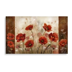 Home Dynamix/division Of Emerem,inc - Calm Chef Poppies Floor Mat - The brightly colored poppies design of this floor mat will add a beautiful touch of color to your kitchen. Water repellent floor mat is easy to clean, and helps to relieve the stress on your legs and back.