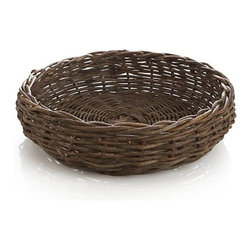Hearth Bread Basket - I know this hearth basket was made with kindling in mind, but I would fill it to overflowing with soft blankets and throw pillows.