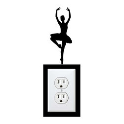 StickONmania - Outlet Ballerina Sticker - A cool sticker for your wall outlet. Decorate your home with original vinyl decals made to order in our shop located in the USA. We only use the best equipment and materials to guarantee the everlasting quality of each vinyl sticker. Our original wall art design stickers are easy to apply on most flat surfaces, including slightly textured walls, windows, mirrors, or any smooth surface. Some wall decals may come in multiple pieces due to the size of the design, different sizes of most of our vinyl stickers are available, please message us for a quote. Interior wall decor stickers come with a MATTE finish that is easier to remove from painted surfaces but Exterior stickers for cars,  bathrooms and refrigerators come with a stickier GLOSSY finish that can also be used for exterior purposes. We DO NOT recommend using glossy finish stickers on walls. All of our Vinyl wall decals are removable but not re-positionable, simply peel and stick, no glue or chemicals needed. Our decals always come with instructions and if you order from Houzz we will always add a small thank you gift.