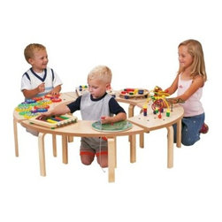 Anatex Circle of Fun Table Activity Table - Sometimes when it comes to an appealing toy kids won't share - but with Anatex's Circle of Fun Activity Table sharing won't be a problem. Four interlocking benches (a puzzle of sorts themselves) form a fun-filled circle. The table boasts seven of Anatex's award-winning games and toys: Abacus Pathfinder Fun Fruits to Match Magnetic Circle Express Gear Panel and Sculpture Mazes #1 and #2. All focus on key problem-solving and imaginative play. The benches can be separated too for individualized play in classrooms waiting rooms and home play areas. Recommended for children age 3 Years to 5 Years.