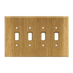 Liberty Hardware - Liberty Hardware 126431 Wood Square WP Collection 5.67 Inch Switch Plate - Mediu - A simple change can make a huge impact on the look and feel of any room. Change out your old wall plates and give any room a brand new feel. Experience the look of a quality Liberty Hardware wall plate.. Width - 5.67 Inch,Height - 8.9 Inch,Projection - 0.3 Inch,Finish - Medium Oak,Weight - 0.26 Lbs