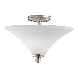Kichler - Kichler Wharton Semi-Flush Mount Ceiling Fixture in Brushed Nickel - Shown in picture: Kichler Semi Flush 2Lt in Brushed Nickel
