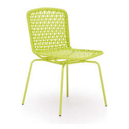 Zuo Modern - Silvermine Bay Chair Lime (Set of 4) - Funky design and hot colors, the Silvermine chair will have your friends asking for more. The frame is 100% epoxy coated steel durable in any climate.
