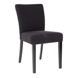 Safavieh - Camille Kd Dining Chair (Set Of 2) - Black And Cream Stripe - Camille's slightly tapered back and simple lines are made for any casual, transitional setting. Shown in black and cream striped cotton upholstery paired with sleek black birch wood legs, Camille is generously padded for supreme comfort.