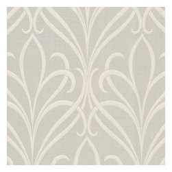 Brewster Home Fashions - Lalique Taupe Nouveau Damask Wallpaper Bolt - Invite a cultured bohemian look to your decor with this contemporary floral wallpaper from Decorline. Mica dusted espresso brown is cut away to reveal a shimmering pewter Jacobean floral design.
