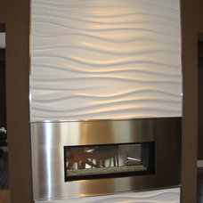 Modern Fireplaces by Another Dimension Custom Stainless Inc