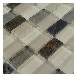 Home Elements - Stone Glass Mosaic Tile, 1 Square Foot - Product Description: