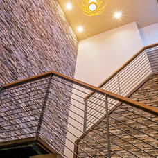 Contemporary Staircase by K. Gennaro Photography