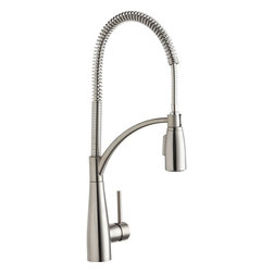 Elkay - Single Lever Pre-Rinse Faucet LS - Product height: 2.76. Product min width: 11.02. Product depth: 27.56 sgl lvr pre-rinse fct lsa brilliant mixture of upscale design and commercial integrity. Avado commands attention. The modern aesthetic delivers impact on every detail and precision in its strong lines. Avado semi-professional kitchen faucet 14 gauge.