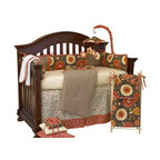 Cotton Tale Designs - Peggy Sue 8pc Crib Bedding Set - Peggy Sue 8pc crib bedding by Cotton Tale Designs is a combination of perfectly balanced cottons, with accents in washed linens and bold floral prints.