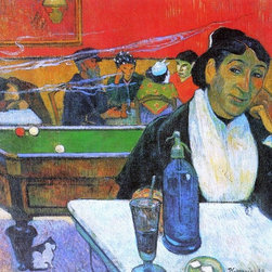 "Paul Gauguin A Night Cafe in Arles (Madame Ginoux) - 16"" x 20"" Premium Archival - 16"" x 20"" Paul Gauguin A Night Cafe in Arles (Madame Ginoux) premium archival print reproduced to meet museum quality standards. Our museum quality archival prints are produced using high-precision print technology for a more accurate reproduction printed on high quality, heavyweight matte presentation paper with fade-resistant, archival inks. Our progressive business model allows us to offer works of art to you at the best wholesale pricing, significantly less than art gallery prices, affordable to all. This line of artwork is produced with extra white border space (if you choose to have it framed, for your framer to work with to frame properly or utilize a larger mat and/or frame).  We present a comprehensive collection of exceptional art reproductions byPaul Gauguin."