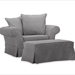 Shop Oversized Chair Ottoman Slipcovers & Chair Covers on