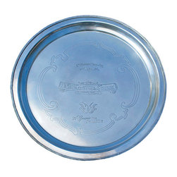 Comptoir de Famille - La Brasserie Large Round Tray - Elegant and refined, our La Brasserie Round Tray is perfect for everyday decor or for adding something special to your celebrations. From the Comptoir de Famille brasserie to your table, this tray is sure delight all!