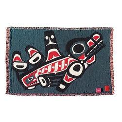 Kanata Blanket Co. - Joe Mandur Junior Killer Whale Layer Woven Throw -
