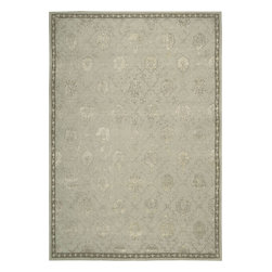 """Nourison - Nourison Regal Transitional Washed Blue Cloud 8'6"""" x 11'6"""" Rug by RugLots - This is Nourison's premier handmade wool collection and features intricately woven traditional patterns exquisitely hand carved with generous portions of silk. Elegant colors, classic designs, subtle tones and unbelievable texture define these magnificent rugs. The Regal collection sets a new standard in quality and beauty that rivals the world's finest heirloom rugs and is sure to be the centerpiece of any room."""
