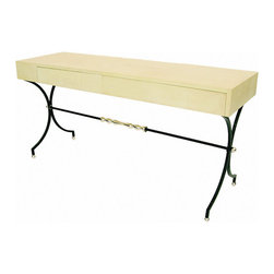 French Parchment Hallway Console - French Parchment Hallway Console France circa 1940's. Condition excellent, restored.