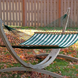 Twin Oaks Green and White Sunsharp Quilted Hammock