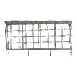 Metal Shelf Wall Hanger w/ Hooks - *Metal Shelf Hanger