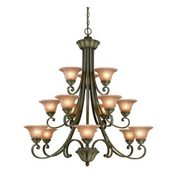 Dolan Designs - Dolan Designs 829-38 Windsor Sante Fe 15 Light Chandelier - Dolan Designs 829-38 Windsor Sante Fe Classic/Traditional 15 Light Chandelier