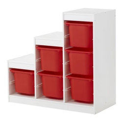 Studio Copenhagen - TROFAST Storage combination - Storage combination, white, red