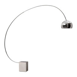 Zuo Modern - Zuo Modern Gravity Modern Floor Lamp X-42005 - An iconic shape of contemporary lighting, the Gravity floor lamp will bring sophistication and functionality to every room. The base is made from chrome. UL approved.