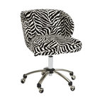 Zebra Wingback Desk Chair - You've got to have a little fun in your office, and this comfy office chair is sure to brighten up your day. I had something like this in my office once and got so many compliments on it! Pair it with a color palette of black and gold for a sophisticated and glamorous space.