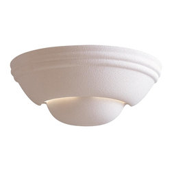 "Minka Lavery - Minka Lavery 351 White Ceramic 1 Light Wall Sconce - 12.5"" W x 5.25"" H x 6.25"" Ext"
