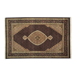 1800-Get-A-Rug - Tabriz Mahi Oriental Rug Wool and Silk Hand Knotted Rug Sh13065 - About Wool Pile