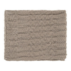 Warm Taupe Throw Blanket - With a fire in the fireplace, you're sure to feel snuggly next to your sweetie under this cable knit beauty.