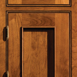 """Dura Supreme Cabinetry - Dura Supreme Cabinetry Silverton Inset Cabinet Door Style - Dura Supreme Cabinetry """"Silverton"""" inset cabinet door style in Cherry shown with Dura Supreme's """"Mission"""" stain with """"Black Accent"""" finish. (With beaded frame)"""