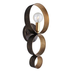 Crystorama Lighting - Crystorama Lighting 581-EB-GA Luna Eclectic Sconce - Crystorama Lighting 581-EB-GA Luna Eclectic Sconce In English Bronze + Antique Gold