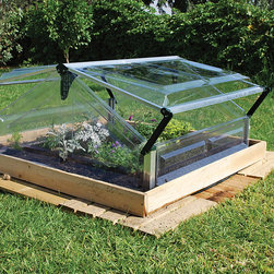 Palram - Palram Cold Frame Double 3' x 3' Mini Greenhouse - Keeps frost and pests out of your crops with this cold-frame double mini greenhouse. This mini greenhouses polycarbonate panels and aluminum frame will protect your plants. It is rust- and corrosion-resistant, UV-protected, and weatherproof.