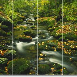 Picture-Tiles, LLC - River Photo Mural Tile R056 - * MURAL SIZE: 24x32 inch tile mural using (12) 8x8 ceramic tiles-satin finish.