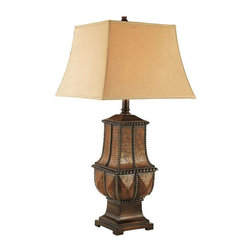 Trans Globe Lighting - Trans Globe Lighting RTL-8768 Table Lamp In Aged Leather Look - Part Number: RTL-8768