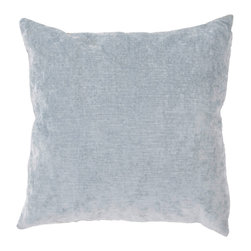 """Jaipur Rugs - Gray color linen cotton luxe poly fill pillow 20""""x20"""" - The Luxe collection is affordable luxury in one small package. Luxe is offered in both a 20�x20� throw pillow and a lumbar size. Luxe is ultra-soft with a velvety texture and linen backing giving it an updated and sophisticated edge."""