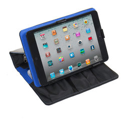 """Great Useful Stuff - Power Folio 3-In-1 - City Pop - The Power Folio 3-In-1 acts as a case, stand and charging station for an iPad Mini, a Kindle or any other tablet up to 8"""" and up to 2 cell phones, for on-the-go users who need their devices charged and organized. With room for a power bank battery and a separate zippered pocket to hold excess cords, the compact design of this Folio is ideal for reading on a tablet and can convert into a terrific tablet stand to view your device at the perfect angle for working, playing or watching movies on a tablet. Power bank battery sold separately."""