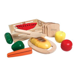 Melissa & Doug - Melissa and Doug Personalized Cutting Food Box - 200487 - Shop for Cooking and Housekeeping from Hayneedle.com! Your miniature chef's imagination will run wild with this Melissa and Doug Personalized Cutting Food Box. Made of quality wood it includes 8 food pieces a cutting board and a toy knife that makes a neat crunching noise when slicing. It's a no-mess way for your child to have fun creating their own meal time. Plus it's a great way for kids to learn portions and fractions as the food pieces divide into segments.About Melissa & Doug ToysSince 1988 Melissa & Doug have grown into a beloved children's product company. They're known for their quality educational toys and items and have grown in double digits annually. The Melissa & Doug company has been named Vendor of the Year by such great retailers as FAO Schwarz Toys R Us and Learning Express and their toys have been honored as Toys of the Year by Child Magazine FamilyFun Magazine and Parenting Magazine. Melissa & Doug - caring quality children's products.
