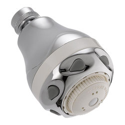 Delta Water-Efficient Shower Head - 52671-WC20-BG - Getting ready in the morning is far from routine when you're surrounded by a room and in the company of a faucet that reflects your personal style
