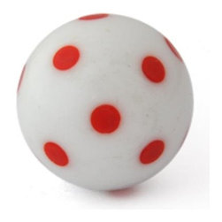 "Knobco - Polka Dotted Glass Knob, White knob with Red Polka Dots - White knob with Red Polka Dots glass knob. Unique glass knobs for your kitchen cabinets. 1"" in   diameter. Includes screws for installation."