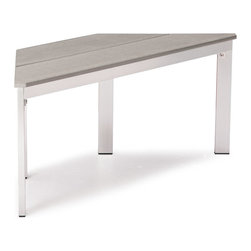 Zuo Modern - Zuo Modern Center Bench in Gray - Bench in Gray belongs to Center Collection by Zuo Modern The Center Bench has a sturdy epoxy coated aluminum frame and a slatted faux wood seat. Bench (1)