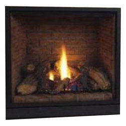 "Majestic Products - Majestic 500DVBLNSC7 Solitaire Direct Vent Gas Fireplace - Majestic 500DVBLNSC7--42"" Top Vent Clean Face DV Fireplace, Signature Command Control Natural Gas"