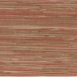 Yan Yan Red Grasscloth Wallpaper - A sophisticated red and beige grasscloth wallpaper, weaving natural sea grasses for an eco-chic texture.