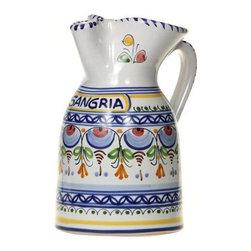 "Spanish Majolica Sangria Pitcher - Spanish Majolica 8-1/2"" Sangria Pitcher"