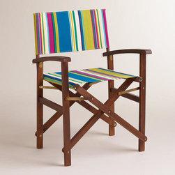 Thailand Stripe Bali Club Canvas Cover - Such fun beachy colors on this chair!